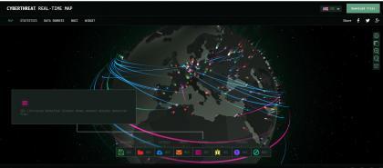 卡巴斯基全球恶意攻击地图